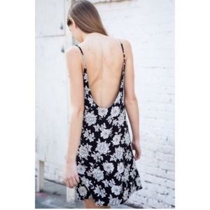 Brandy Melville Dresses - Brandy Melville Floral Lynette Open Back Dress